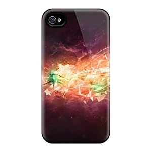 Flexible Tpu Back Cases Covers For Iphone 4/4s - Abstract 3d