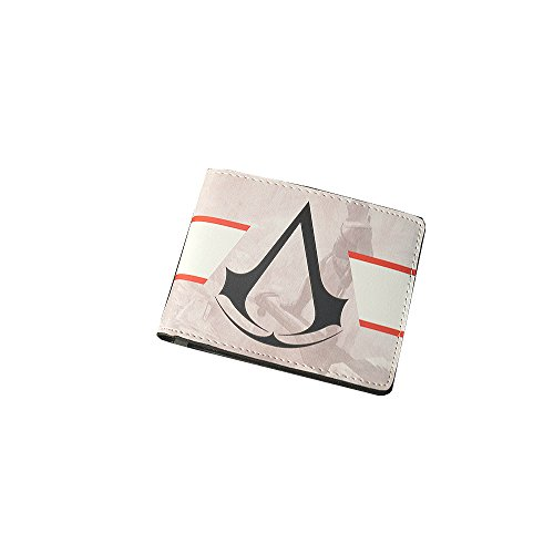 [Assassin's Creed Logo Bi Fold Men's/Boys Wallet with Gift Box] (Assassin Creed Movie Costume)