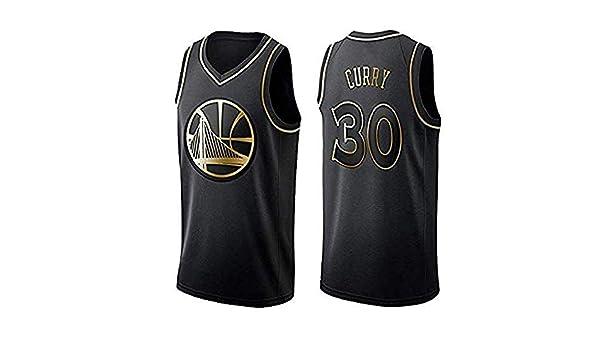 NBA Warriors Golden State # 30 Stephen Curry Camiseta de Baloncesto Unisex Sportswear Camiseta ODML Camiseta de Baloncesto para Hombres