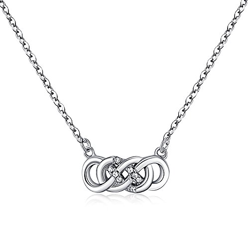 Suyi Fashion Twisting Necklace Rhinestone