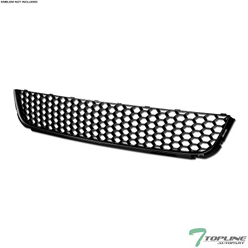 (Topline Autopart Matte Black Honeycomb Mesh Front Lower Bumper Grill Grille ABS For 10-13 Volkswagen Golf / 10-14 Jetta SportWagen MK6)
