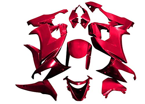 (Sportbike Deals AZDK305RED Body Kit (Kawasaki Zx-6R 2009-2012, Abs Plastic Painted Red))