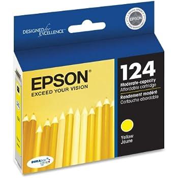 Epson T124420 DURABrite Ultra Yellow Moderate Capacity Cartridge Ink