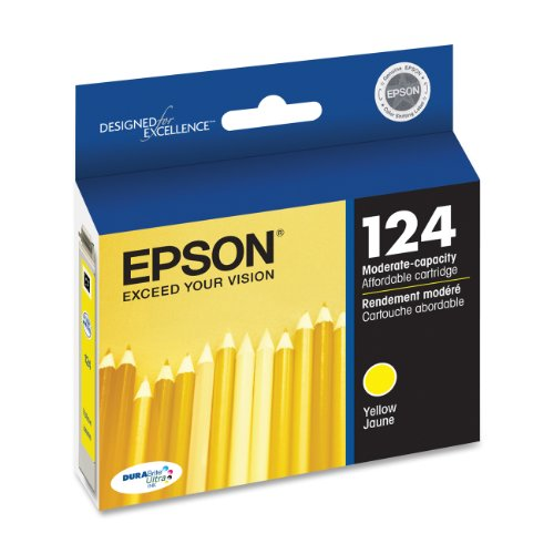 Epson T124420 DURABrite Ultra Yellow Moderate Capacity Cartridge Ink