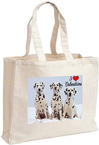 Cotton Dalmatian Shopping Shopping Dalmatian Bag Dalmatian Cotton Cream Cream Shopping Bag Cream Bag Cotton Dalmatian qPBCqwY