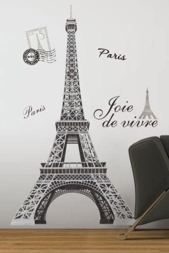 Eiffel tower mural smalll vinyl wall decal