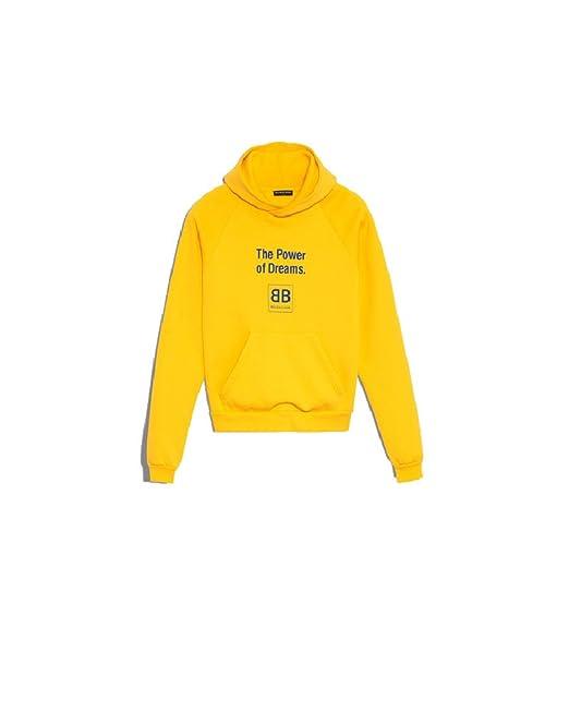 Balenciaga - Sudadera - para hombre amarillo 46   Amazon.es  Ropa y  accesorios 4415a73b0f2f