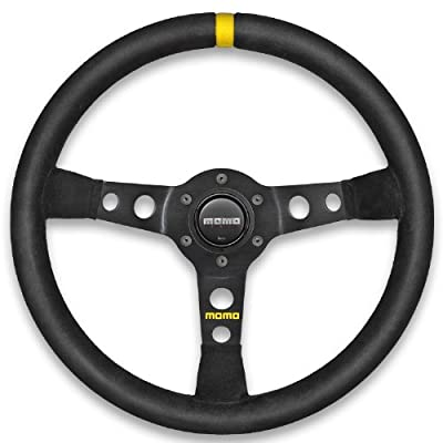 Momo R1905_35S Mod 07 350 mm Suede Steering Wheel,Black: Automotive