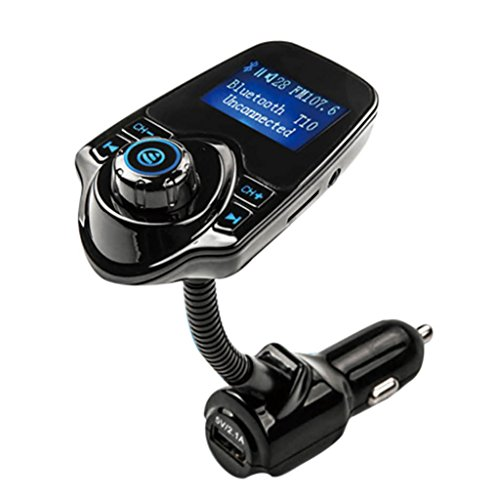 AutumnFall Car Kit Handsfree Wireless Bluetooth FM Transmitter MP3 Player USB LCD Modulator (Blue)