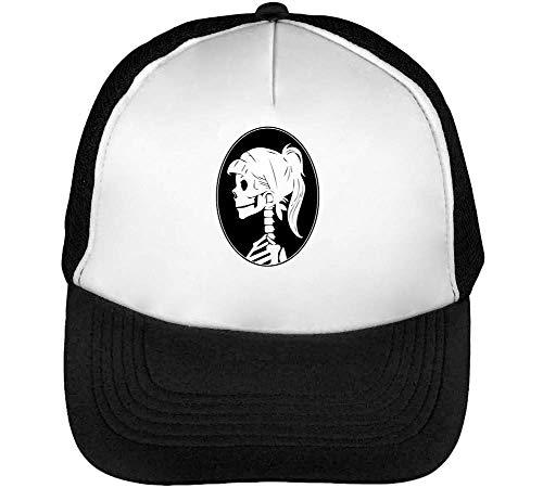 Blanco Gorras Girl Negro Snapback Hombre Beisbol Skull Profile gwnZxqOCgH