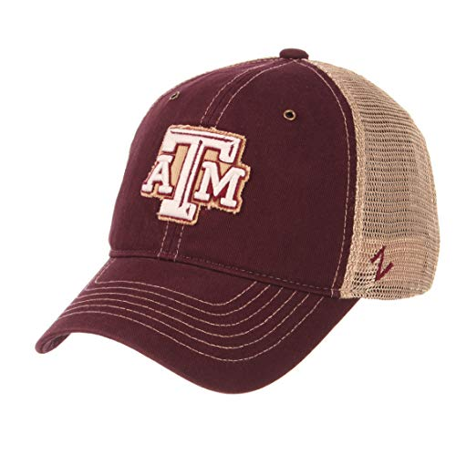 - Zephyr NCAA Texas A&M Aggies Men's Tatter Relaxed Cap, Adjustable, Maroon