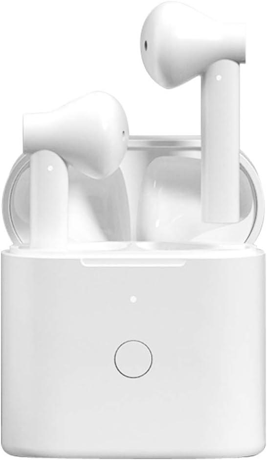 Imagen deAuriculares Bluetooth, HOMSCAM Control Táctil Inteligent Auriculares Inalámbricos Bluetooth 5.1 HiFi Mini Twins Estéreo In-Ear Auriculares inalámbricos con Tipo-C Cables