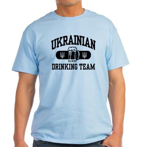 CafePress - Ukrainian Drinking Team Light T-Shirt - 100% Cotton T-Shirt (T-shirt Drinking Team Light)