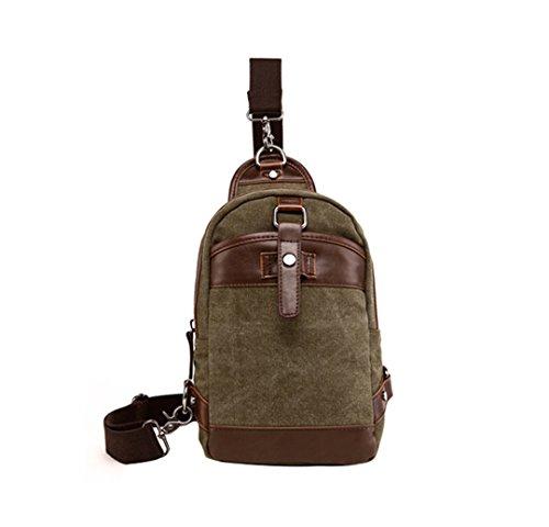 Wewod pecho Paquete/paquetes/hombre bolso de la lona de la moda retro 16 x 27 x 7 cm (L*H*W) Verde