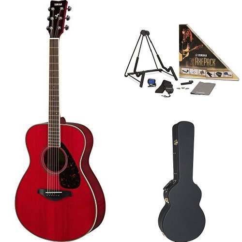 Yamaha FS820 Small Body Acoustic Guitar Ruby Red with Yamaha Concert-Size Guitar Case and Accessory Pack [並行輸入品]   B07FS9CY4T