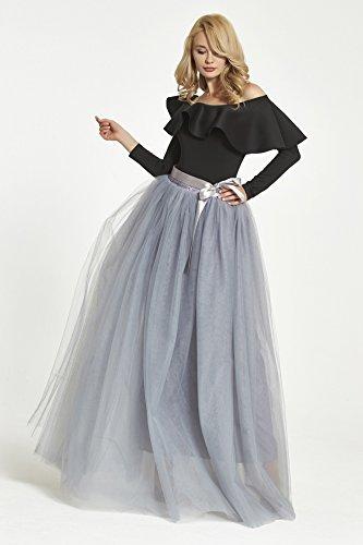 couches FOLOBE jupon demoiselle d'honneur Gris Tutu Vintage jupes 1950 Petticoat Puffy 6 1950 1Br1z