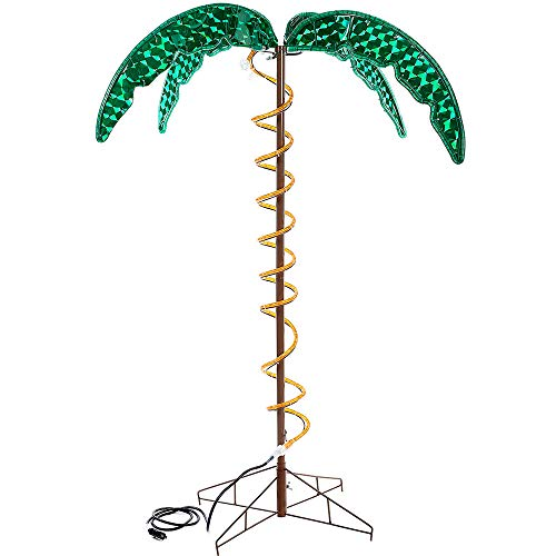 (Roman Lights Ropelight Palm Tree 4.5' Tall, Indoor and Outdoor Use)