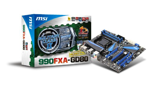 Price comparison product image MSI 990FXA-GD80 Socket AM3+ AMD 990FX DDR3 CrossFireX & 3-Way SLI SATA3 and USB 3.0 A&GbE ATX Motherboard