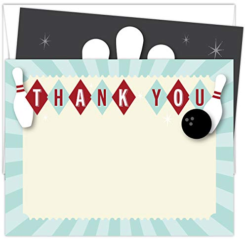 (Koko Paper Co Bowling Thank You Cards. Set of 25 5.5
