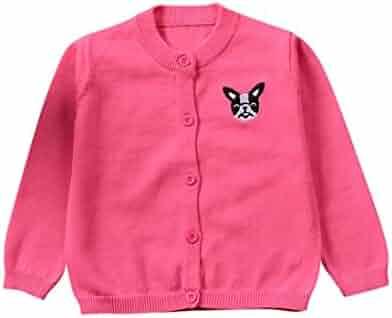 bb54b7fcfc8 Sunbona Toddler Baby Boys Girls Dog Print Knitted Sweater Cardigan Jacket  Outwear Spring Autumn Warm Thick