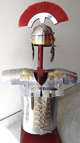 [ROMAN LORICA SEGMENTATA SEGMENTA ARMOR + ROMAN CENTURION HELMET ARMOUR COSTUME] (Ancient Roman Soldier Costume)