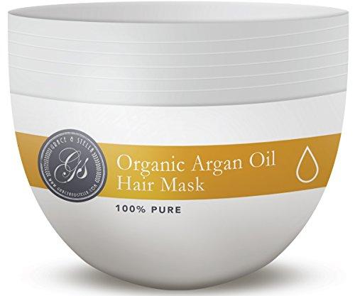 PREMIUM & ORGANIC Argan Oil Hair Mask, Deep Conditioner 8 Oz., 100% Organic Jojoba Oil, Aloe Vera & Keratin, Repair Dry, Damaged Or Color Treated After Shampoo, Best For All Hair Types - Sulfate Free