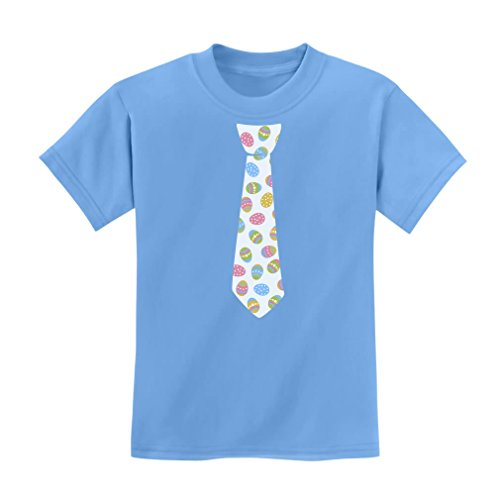 TeeStars Easter Egg Tie - Children's Egg Hunter Printed Tie Cute Kids T-Shirt (Easter Tie Eggs)