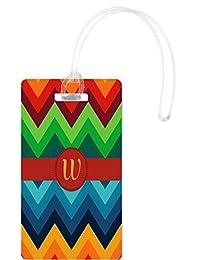Rikki Knight Letter W Initial On Design Flexi Luggage Tags, White