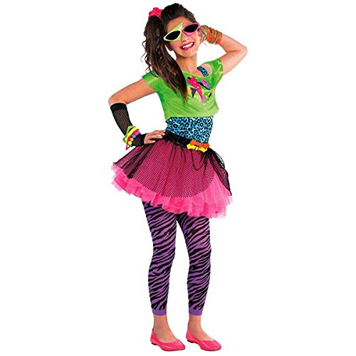 [Amscan Awesome 80's Party Totally Tubular Colorful Graphic Costume (4 Piece), Multicolor, 17