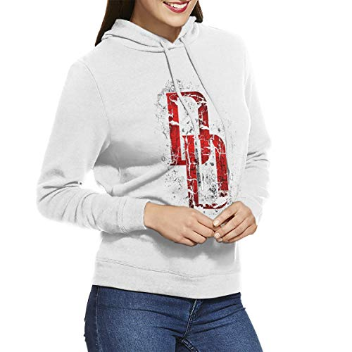 FipiAll Women Daredevil No Pockets Clssic Long Sleeves Hoodie White