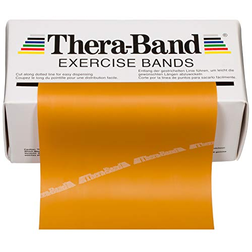 TheraBand Resistance Bands, 6 Yard Roll Professional Latex Elastic Band For Upper Body, Lower Body, & Core Exercise, Physical Therapy, Pilates, At-Home Workouts, & Rehab, Gold, Max, Elite by TheraBand (Image #8)