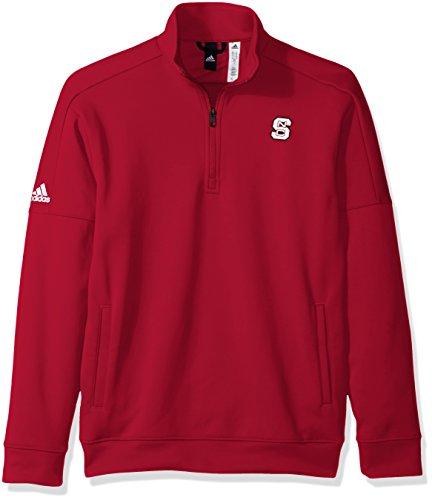 adidas NCAA North Carolina State Wolfpack Mens Lc Logo Team Issue Fleece 1/4 Zip Pulloverlc Logo Team Issue Fleece 1/4 Zip Pullover, Power Red, X-Large