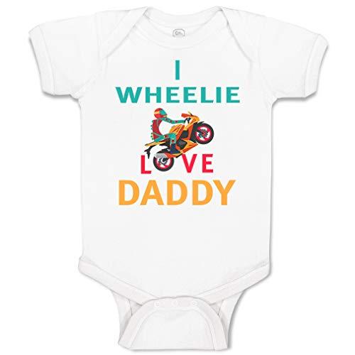 Custom Personalized Baby Bodysuit I Wheelie Love Daddy Dad Father