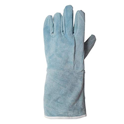 - MOXUAN Protection Function High Temperature Resistant Leather Gloves, Electric Welding Gloves, Welding Protective Glove, Suede Leather, Wear-Resistant, Fire-Resistant handguard