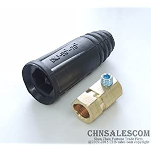 CHNsalescom 315A-400A European style Welding cable rapid connector Female 50-70mm2