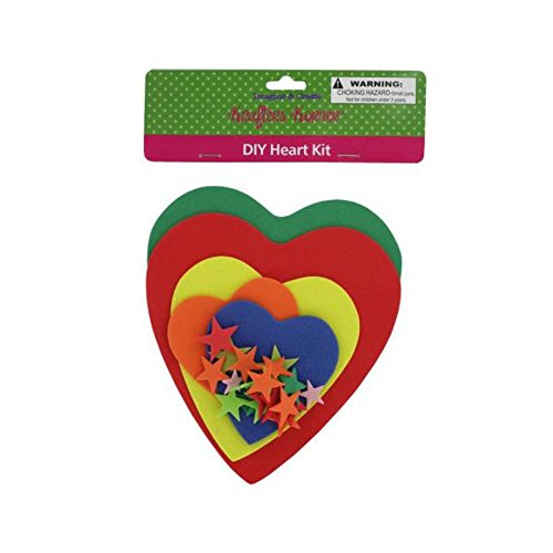 72 Do-it-yourself foam heart craft kit by FindingKing