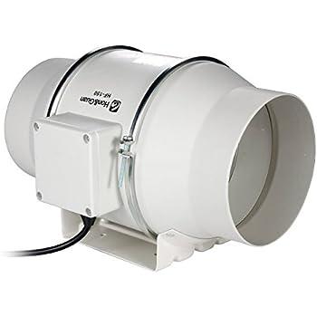 Honu0026Guan 6 Inch Inline Duct Fan Exhaust Fan Mixed Flow Inline Fan  Hydroponic Air Blower For