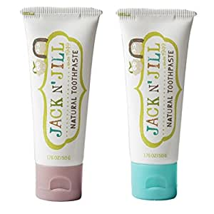 Jack N' Jill Natural Toothpaste, Raspberry & Blueberry, 1.76oz (Pack of 2)
