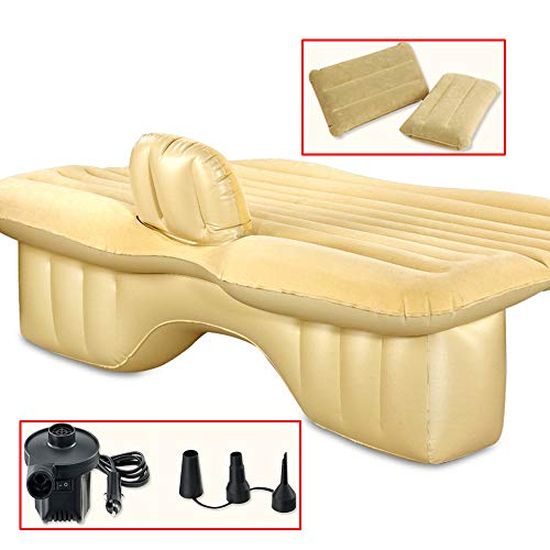 TFGY Auto-Reise-aufblasbare Matratze,Autos SUV aufblasbares Bett für Rücksitz - Mit Auto Luftpumpe - Für das Fahren von Reisen Campingautos