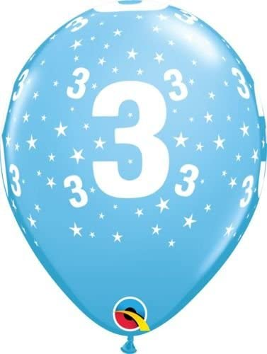 Age 1 Around Pale Blue Balloons Bag of 6 by Qualatex