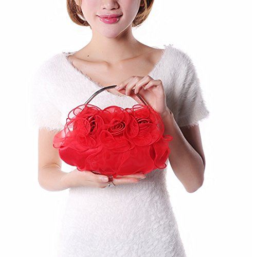 YYW Evening Bag - Cartera de mano para mujer Beige