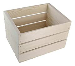 "Wooden crate size as follows; 16""x12.25""x9.25 high, Great for storage or organization."