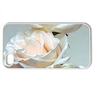 White roses - Case Cover for iPhone 4 and 4s (Flowers Series, Watercolor style, White)