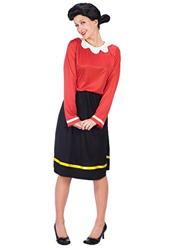 [Fun World 32575 Olive Oyl Adult Costume Size Small-Medium- Men Chest Size 36-42] (Olive And Popeye Halloween Costume)