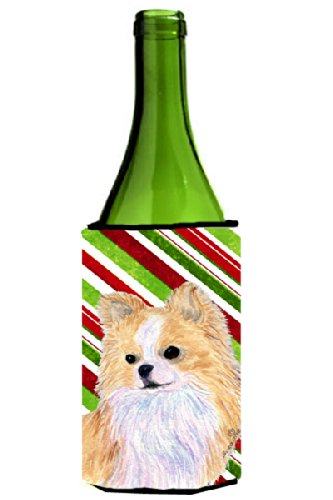Chihuahua Candy Cane Holiday Christmas Wine Bottle Beverage Insulator Beverage Insulator Hugger SS4542LITERK - Candy Cane Huggers