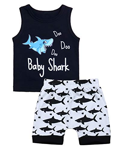 Baby Boy Clothes Shark and Doo Doo Print