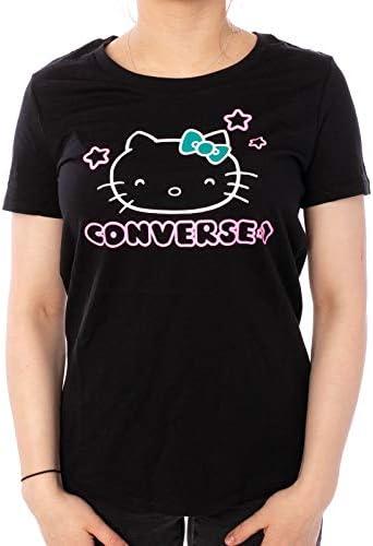 Converse T-Shirt X Hello Kitty Stars Tee - logo XS: Odzież