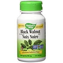 Nature's Way Black Walnut Hulls Health Supplement, 100 Count