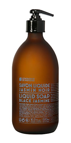 Compagnie de Provence Liquid Marseille Soap Black Jasmine 16.9 fl oz Glass Bottle (Original Glass Bottle)