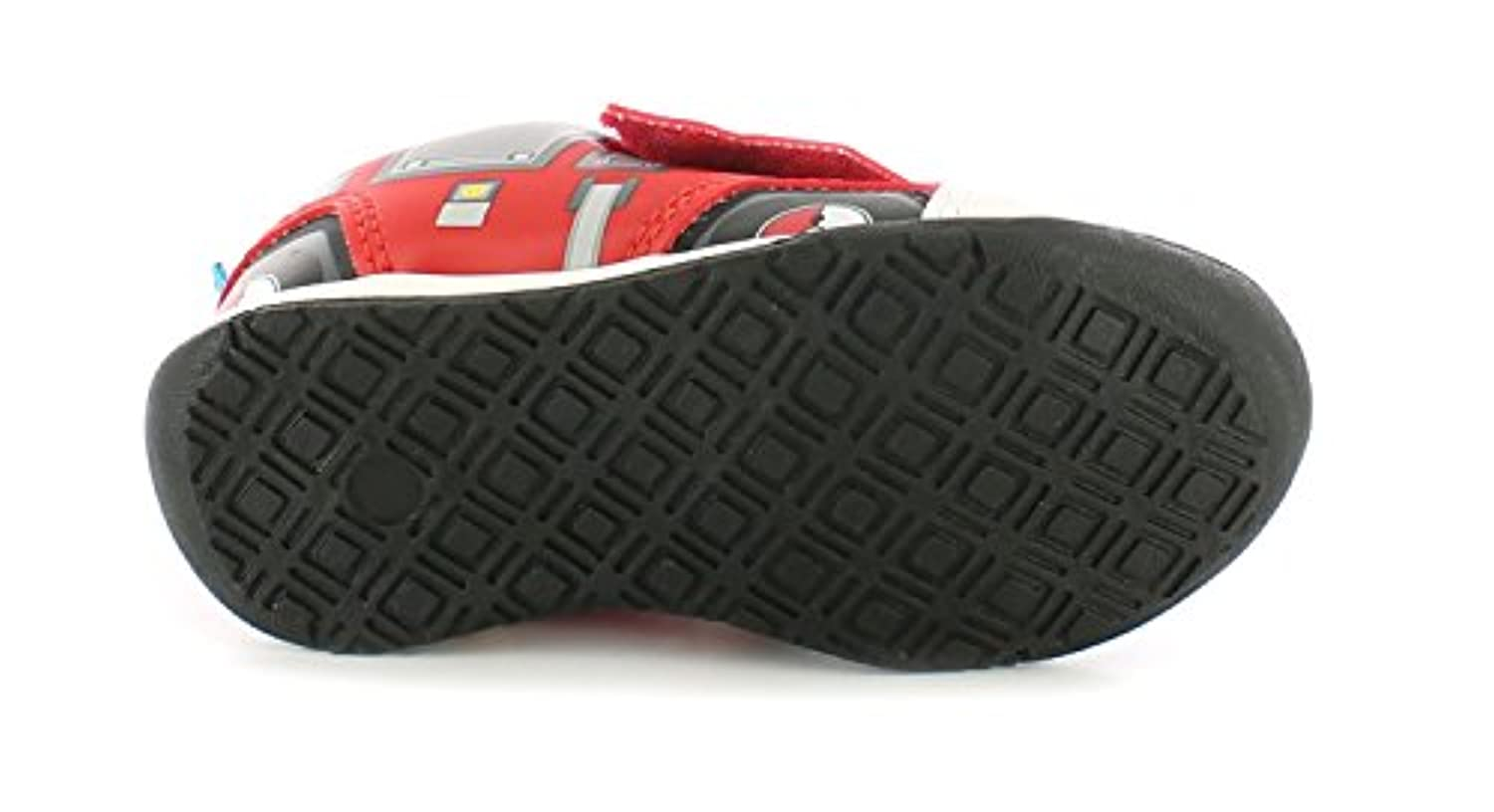 New Boys/Childrens Red Firemans Sam Touch Fastening Sports Trainers. - Red - UK SIZE 5